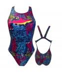 Bañador turbo mujer 1 capa PBT Oaxaca tirante ancho swimsuit