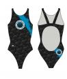 Bañador turbo mujer 1 capa PBT Galicia tirante ancho swimsuit