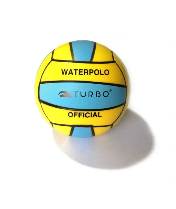 Pelota WP turbo waterpolo antiestres amarillo/celeste