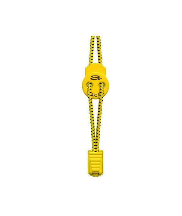 Cordones elásticos A-Lace amarillo/negro