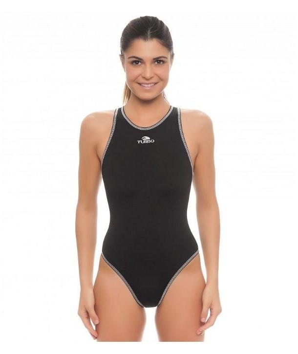 Bañador waterpolo Mujer Turbo Comfort Negro