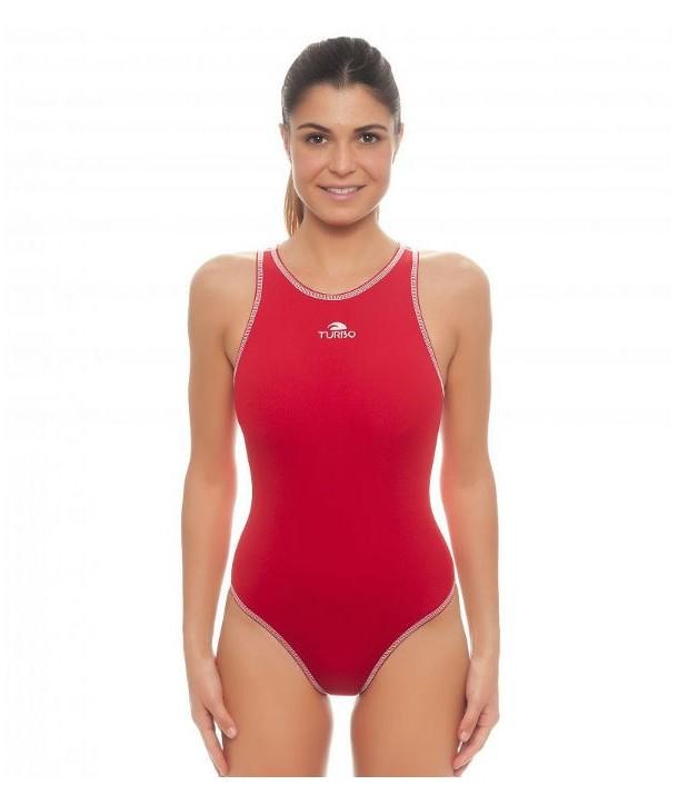 Bañador waterpolo Mujer Turbo Comfort Rojo