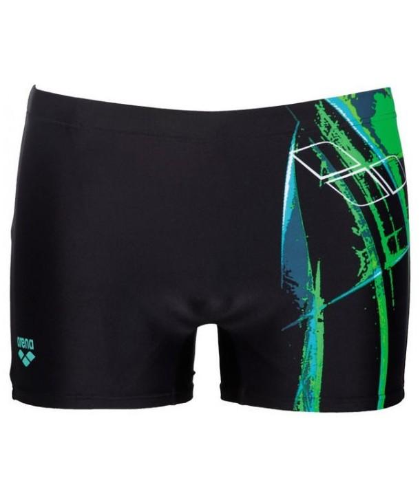 Bañador slip Arena Backjump Short Negro Verde