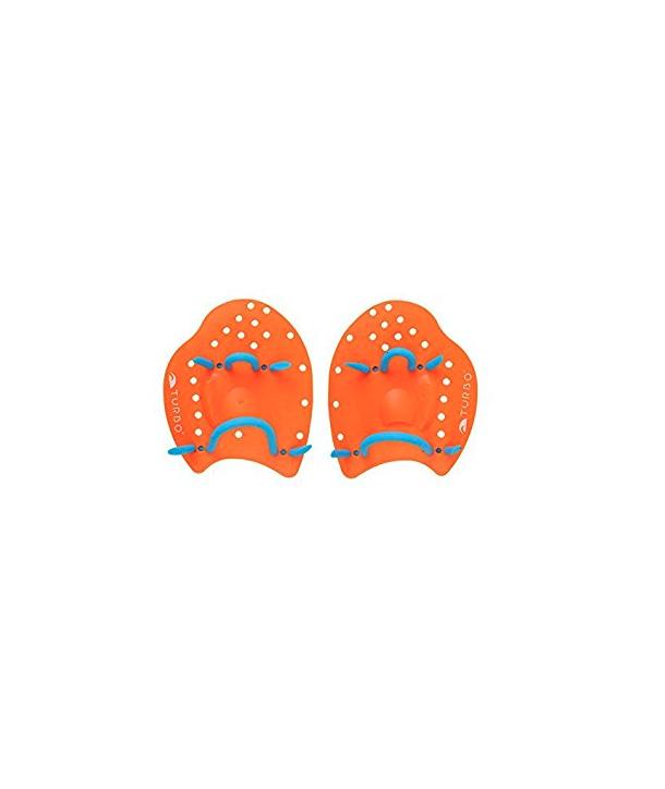 Palas Natación de marca turbo S naranjas