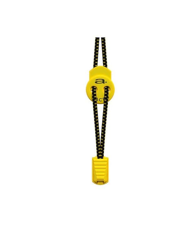 Cordones elásticos A-Lace negro/amarillo