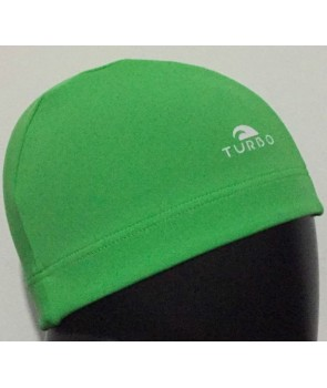 26fcffca Gorro natación tela lycra TURBO color verde GOMA ANCHA