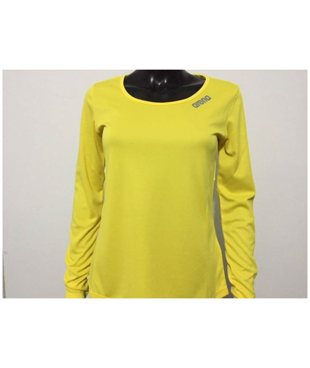 Camiseta M/L W Performance Long Sleeve Basic Yellow