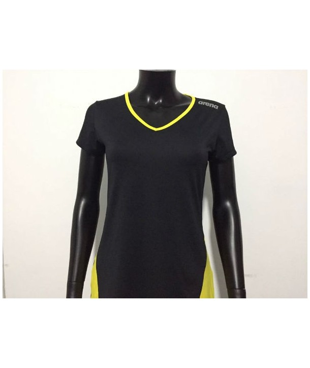 Camiseta M/C W Performance Tee Black Yellow Star