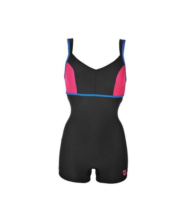 Bañador natación mujer Arena VENUS COMBISHORT blue/fresia rose