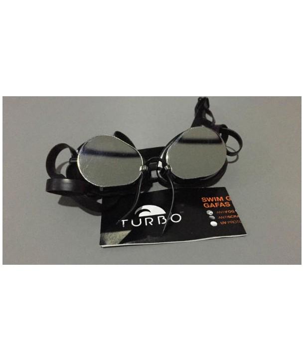 Gafas Suecas Espejo Turbo Color SILVER Con borde de silicona