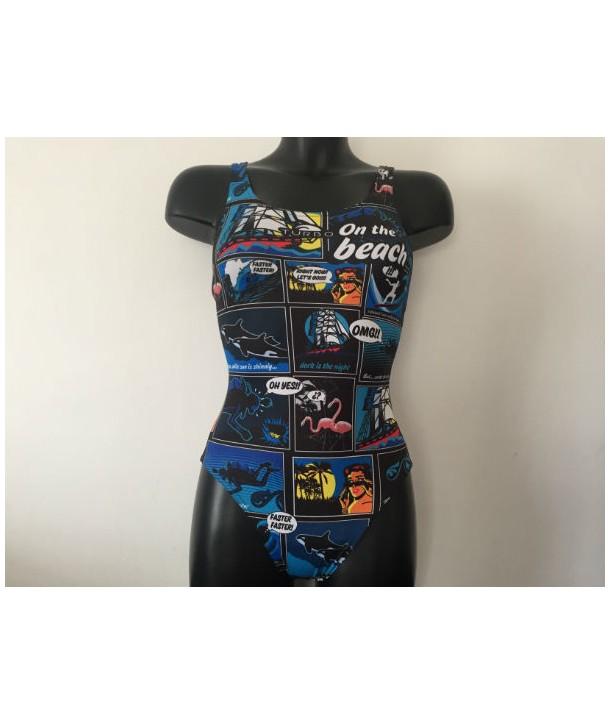 Bañador Mujer Turbo NEW COMIC PBT Tira Ancha 1 capa