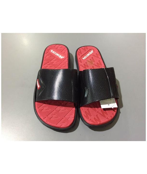 Chanclas Mosconi freestyle negro-rojo