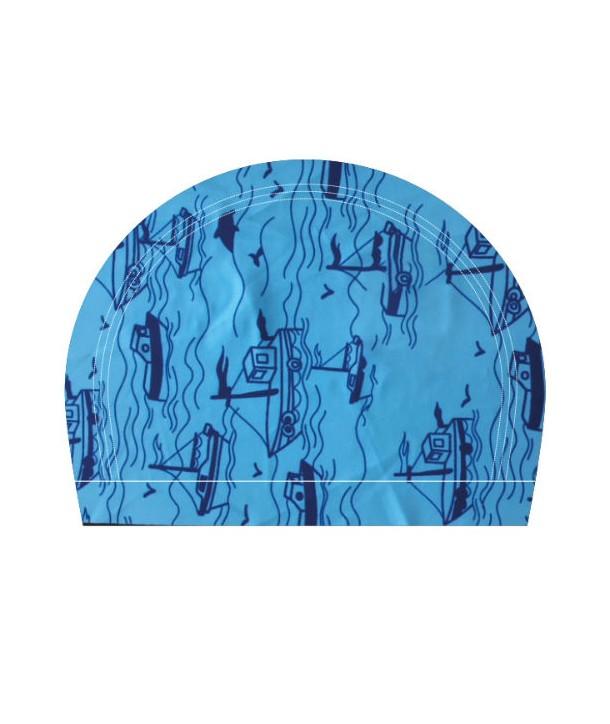 Gorro de natación tela RAS estampado BOAT