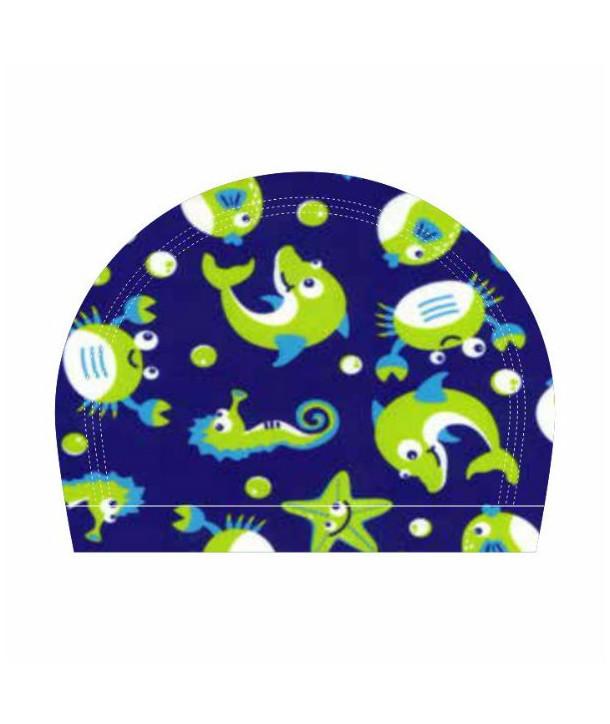 Gorro de natación tela RAS estampado OCEAN