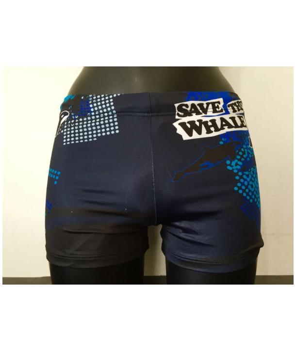 Bañador hombre TURBO boxer save the whale 1 capa