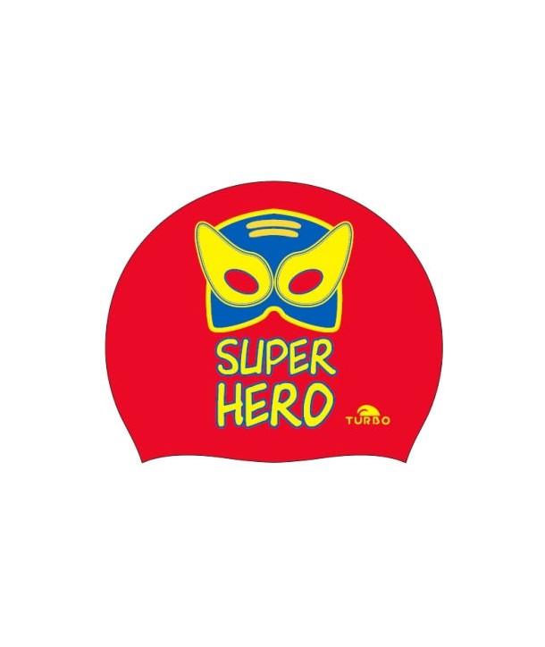 Gorro natación silicona TURBO super heroe