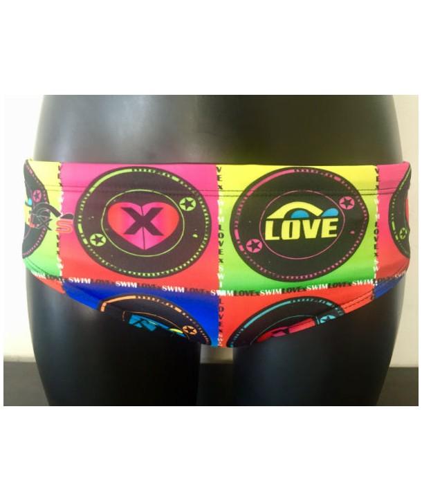 Bañador hombre LOVEXSWIM waterpolo LogoLove 2 capas