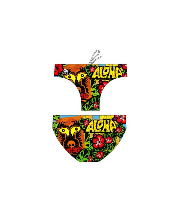 Bañador slip hombre Turbo ALOHA multicolor 1 capa