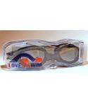 Gafas natación LOVEXSWIM Tri-Swim negras espejo plata