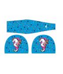 Gorro natación tela TURBO Sirena unicornio