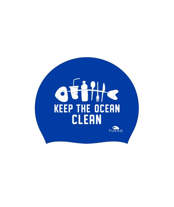 Gorro natación silicona TURBO Clean Ocean