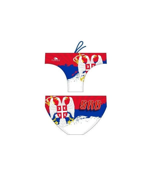 Bañador hombre TURBO waterpolo Serbia flag 2 capas