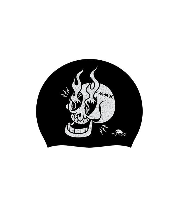 Gorro natación silicona TURBO Skull Fire