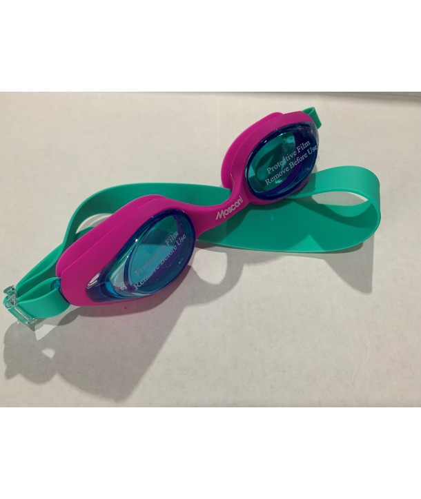 Gafas natación MOSCONI Junior Soft rosas/turquesa