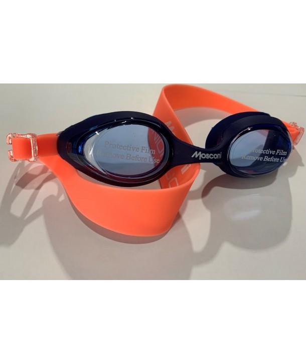 Gafas natación MOSCONI Junior Soft marino/coral