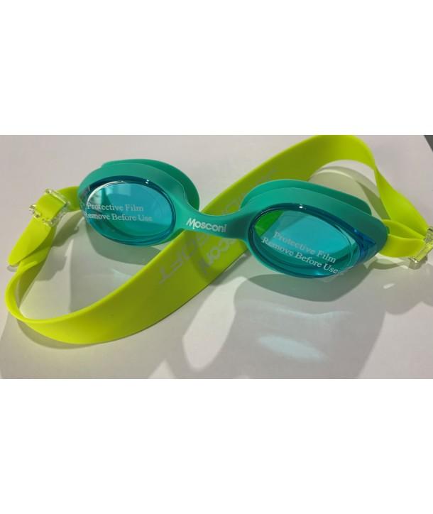 Gafas natación MOSCONI Junior Soft AQUAMARINA/LIMA